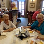 Our residents enjoying their breakfast.