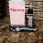 Popcorn tray with all the snacks from the concession stand.