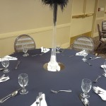 The table decorated and ready for the event.
