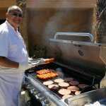 Chef JC grilling away for the residents and associates.
