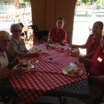 Residents and staff enjoying the picnic.