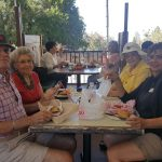 Residents enjoying a great lunch on the patio in Oak Glenn